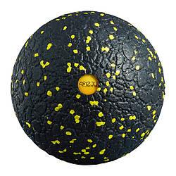 Массажный мяч 4FIZJO EPP Ball 12 4FJ0057 Black/Yellow для дома и спортзала черно-желтого цвета