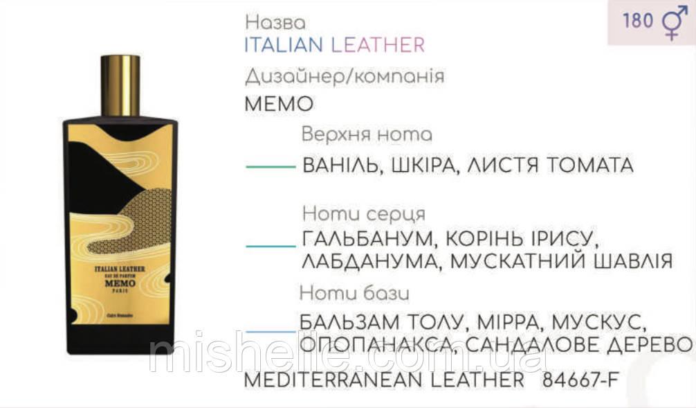 Концентрат MEDITERRANEAN LEATHER (110гр) (Альтернатива Memo Italian Leather )