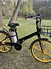 Электровелосипед с передней корзиной на литых дисках антипрокольные шины безкамерки с Европы, фото 5