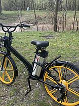 Электровелосипед с передней корзиной на литых дисках антипрокольные шины безкамерки с Европы, фото 3