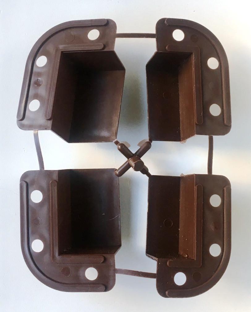Крепления для наружной москитной сетки для профиля 17х25 коричневые
