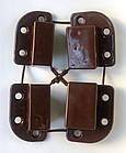Крепления для наружной москитной сетки для профиля 17х25 коричневые, фото 2