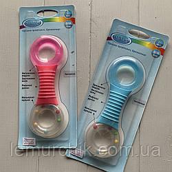 Прорезыватель для зубов силиконовый с водой + погремушка LI296
