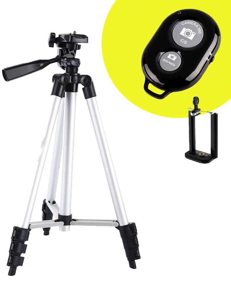 Штатив 102см 3110А Трипод для Телефона Камеры Фотоаппарата с Bluetooth Кнопкой