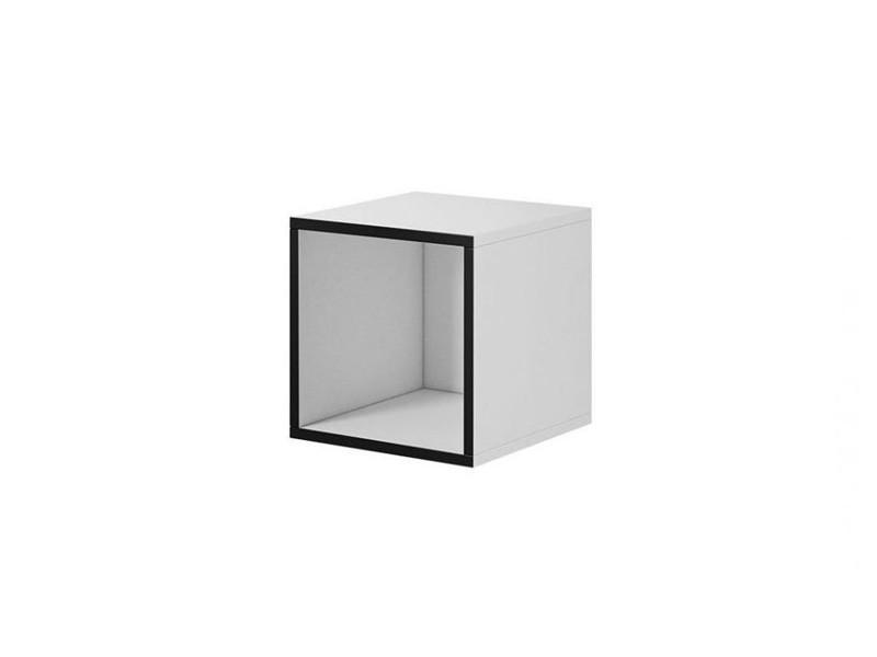 Пенал Roco RO-6 белый/черный (модульная мебель) (CAMA)