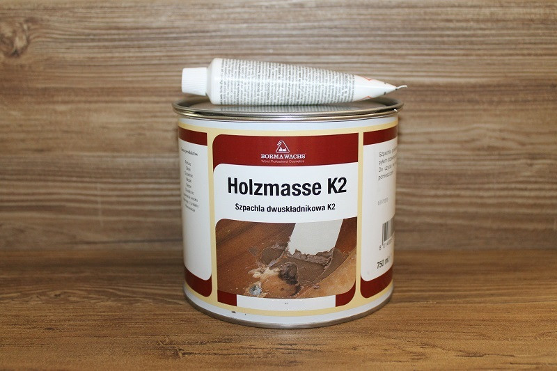 Шпатлевка  2-к полиэфирная, Holzmasse K2, Borma Wachs, Touch UP & Fillers Line, 750 грамм