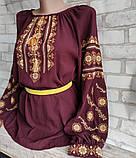 Вишиванка жіноча, з довгим рукавом, блузка з вишивкою на шифоні 520/420 грн (ціна за 1 шт +100 грн), фото 7