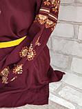 Вишиванка жіноча, з довгим рукавом, блузка з вишивкою на шифоні 520/420 грн (ціна за 1 шт +100 грн), фото 4