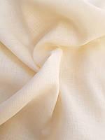 Льняная легкая ткань сливочного цвета