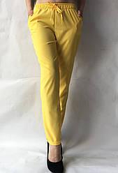 Женские летние штаны, софт №13 желтый