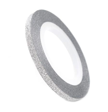 Скотч-лента сахарная для дизайна ногтей 3 мм (серебро)