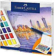 Акварельные краски Faber Castell 48 цв. + кисточка (169748)