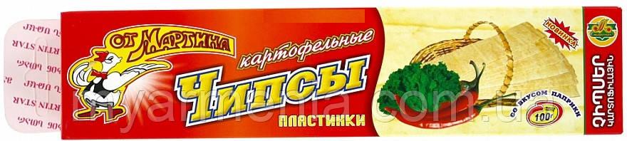 """Картофельные пластинки """"От Мартина"""" 100г Армянский"""
