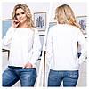 Женская блуза свободного кроя 50, 52, 54, 56, фото 3