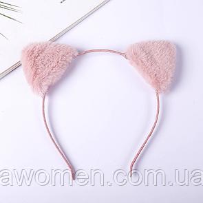 Обруч для волос с ушками (розовый)