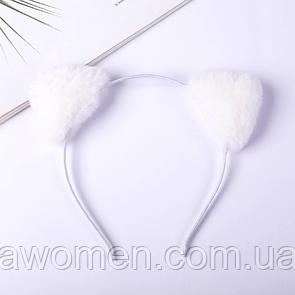 Обруч для волос с ушками (белый)