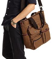 Мужская кожаная сумка. Модель 61252, фото 10