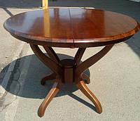 Стол раскладной 3600-2 круглый деревянный. Темный орех