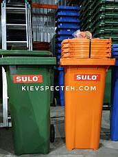 Контейнер для сміття зелений SULO EN-840-1/ 240 л, фото 3