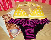 Купальник Victoria's Secret push-up желто-фиолетовый (S+XS)