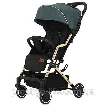 Прогулочная коляска CARRELLO Smart CRL-5504 Leaf Green с дождевиком, зеленая