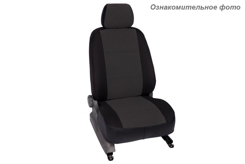 Чехлы салона Ravon R2/Chevrolet Spark 2011- Жаккард /темно-серый