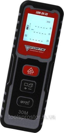 Дальномер лазерный Forte LDM-30-3S : 30 м | Гарантия 1 год