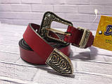 Ремінь Жін. 1(р) червоний 1312-19 Україна B, фото 3