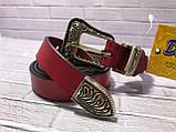 Ремінь жіночий 1(р) червоний 1312-19 Україна B, фото 3