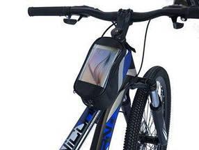 Велосипедна сумка на раму «штани», з відділенням для телефону