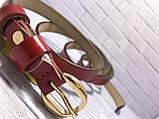 Ремінь Жін. 1(р) червоний 1544-19 Туреччина B, фото 2