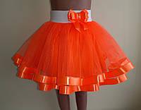 Дитяча спідничкана резинці, оранжева