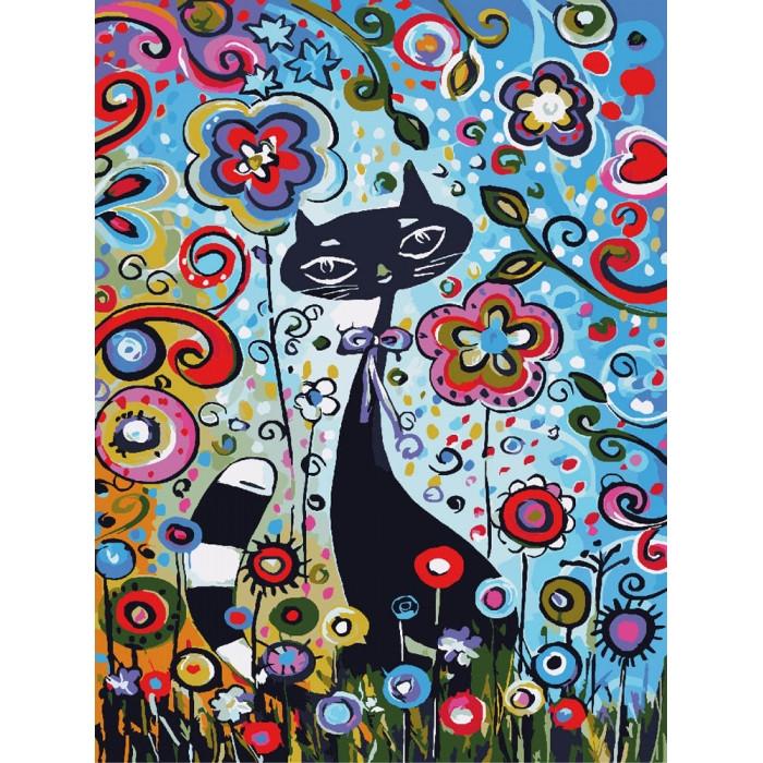 """Набор """"Идейка"""" для росписи по номерам Животные, птицы """"Магические краски 2"""" 30х40см КНО2442"""