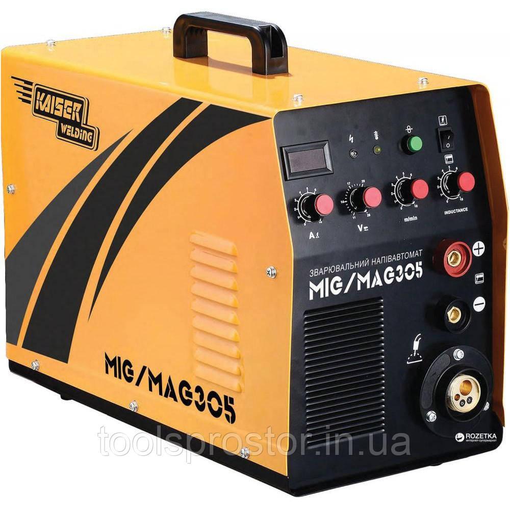 Сварочный полуавтомат инверторный 2в1 Kaiser MIG-305 : 305A | Гарантия 1 год