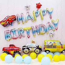 Фольгированная надпись  Happy Birthday радужная 40 см 1784