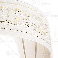 Лента декоративная, Бленда Оригинал 01 Золото на потолочный карниз КСМ 70 мм, усиленный потолочный карниз