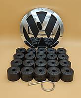 Колпачки для болтов Фольцваген (заглушки болтов Volkswagen) Черные колпачки Фольксваген