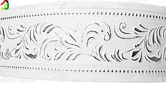 Лента декоративная, Бленда Оригинал 11 Серебро на потолочный карниз КСМ 70 мм, усиленный потолочный карниз