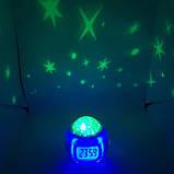 Музичні годинники Будильник з проектором зоряного неба 6 кольорів UKC 1038 ХІТ !, фото 6