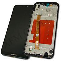 Дисплей (LCD) Huawei P20 Lite Dual Sim (ANE- L21)/  Nova 3e с сенсором чёрный + рамка