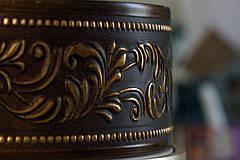 Лента декоративная, Бленда Оригинал 307 Золото темн. потолочный карниз КСМ 70 мм, усиленный потолочный карниз