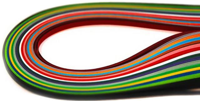 Бумага для квиллинга ЛЮКС-КОЛОР (7mm/700mm) для создания панно из бумажных лент