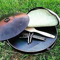 Сковорода мангал из диска бороны с крышкой  50 см