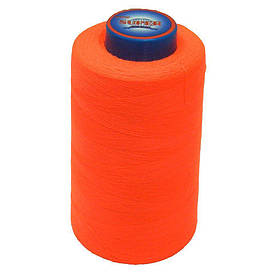 Нитки швейные Super 40/2 бобина 3657м Неоново-оранжевые