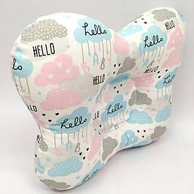Подушка ортопедическая типа бабочка для новорожденных Sindbaby из ткани Baby