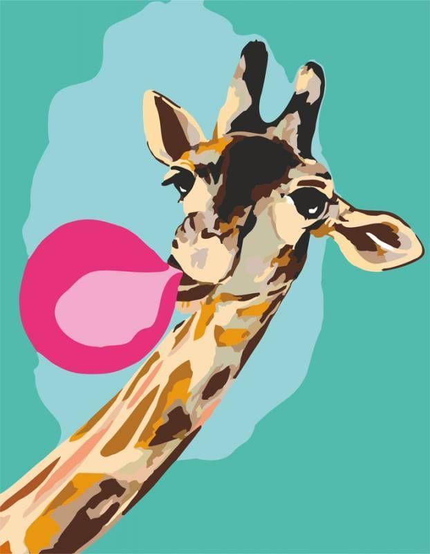 Картина по номерам Жираф Cool giraffe