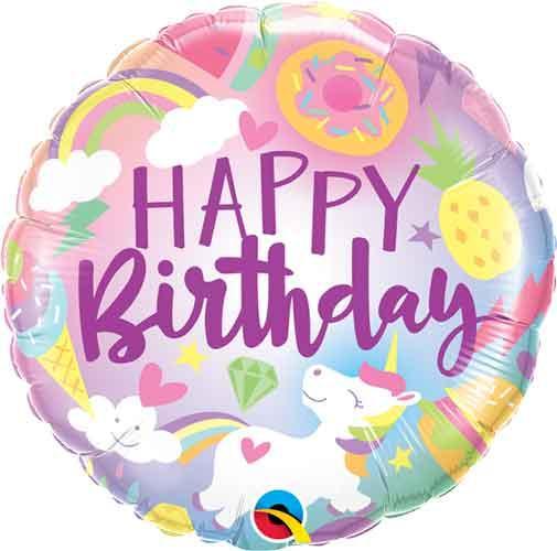 """Q 18"""" Birthday Fantastical ( Фантастическое День Рождение единорожка), В УП."""