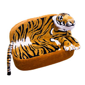 Детский диван Золушка тигр 52 х 78 х 37 см Коричневый