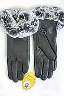 Женские кожаные перчатки Вязка Сенсорные WP-162683, фото 1