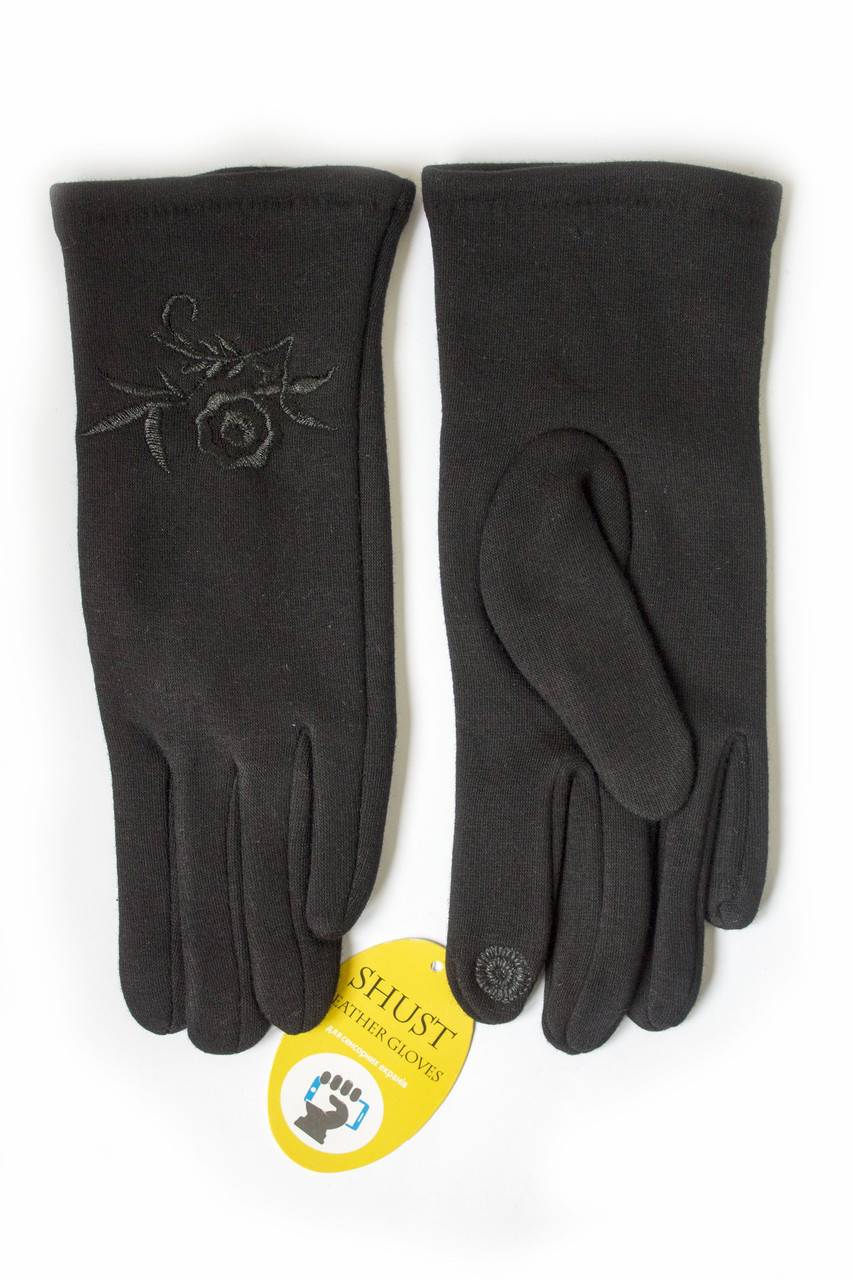 Женские стрейчевые перчатки  - СЕНСОРНЫЕ Средние